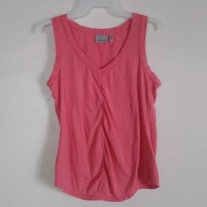 Athleta V Neck Tank Top Coral Small EUC